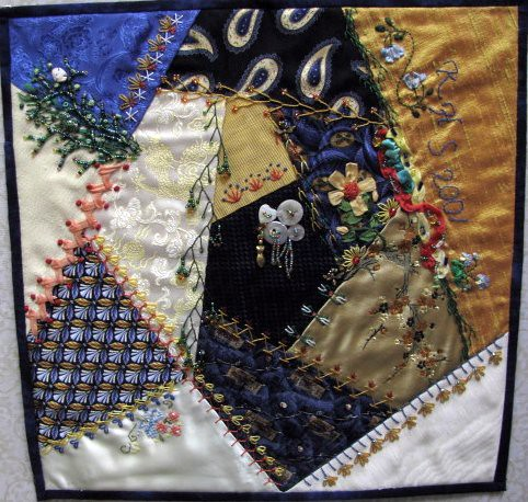 Crazy for Silk and Beads, May Gallery Exhibit @Quiltworks