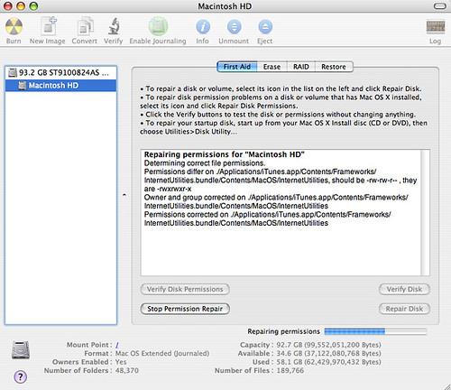 Macintosh HD - Disk Utility