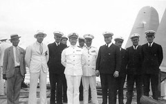 Military and Pan American crew, 1935