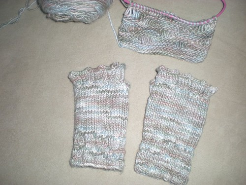 Fetching Gloves and Drop Stitch scarf