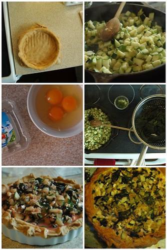 Zucchini and Swiss Chard Tart