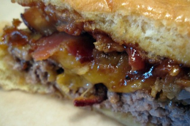 grindhouse killer burgers - EXTREME CLOSE UP! by you.