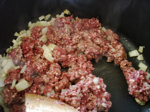 Add mince beef