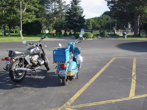 BMW and Vespa P200 at LaSalette