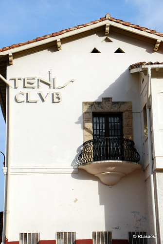 Antiguo cartel del «Club de Tenis Pamplona»