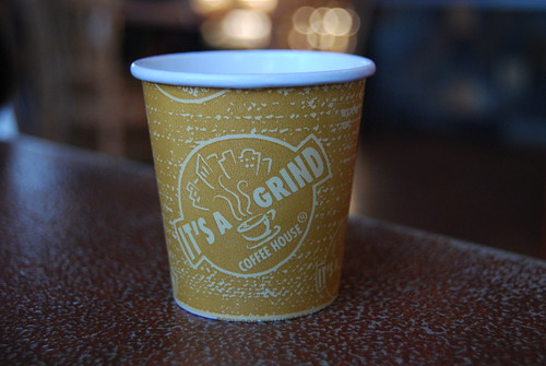 It's a Grind Coffee House, Sample Cup Castaic by you.