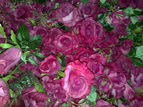 Artificial Flowers Dark Pink Roses