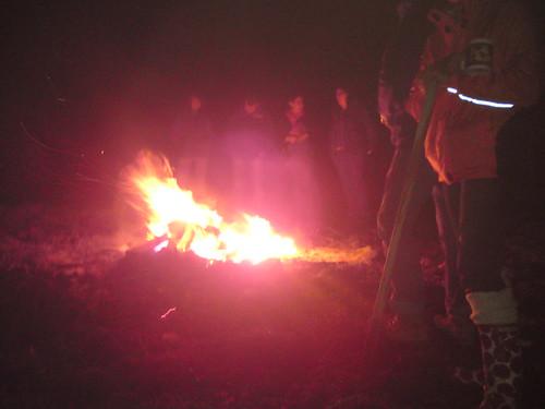Last night - round the bonfire