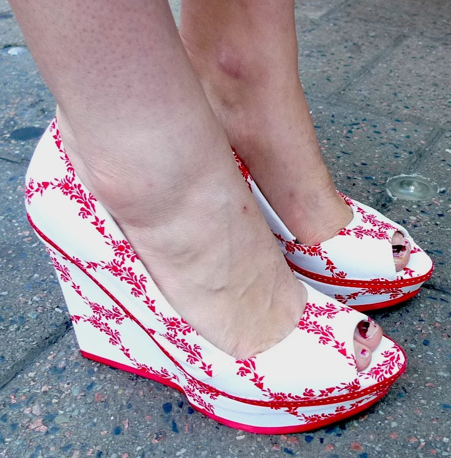 Fabric-covered shoes