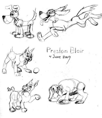 Preston Blair inspired drawings, June 4, 2009
