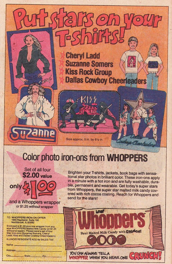 Iron-ons from Whoppers