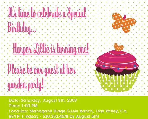 Harper's Party Invitation