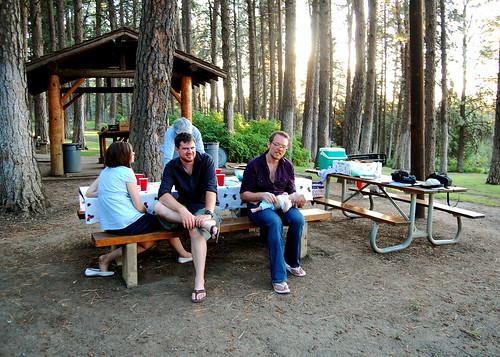 Barbecuing at Kamiak Butte.
