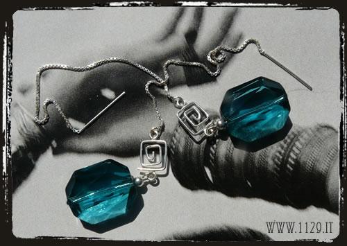 orecchini blu - Blue earrings IISWAB