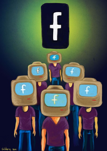 Facebook is Watching You (Illustration : Gilderic)