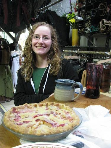 Kristen and Peach Creme Fresche Pie!