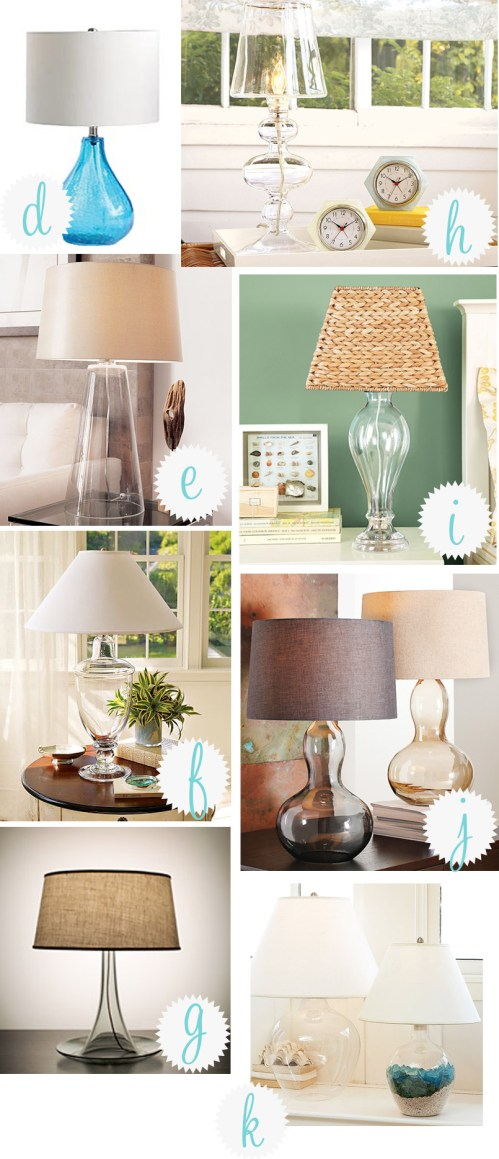 Glass Table Lamp Round Up