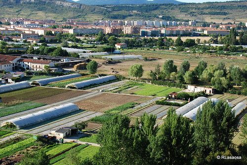 Vista de las huertas de la Magdalena desde el mirador del Parque de la Media Luna