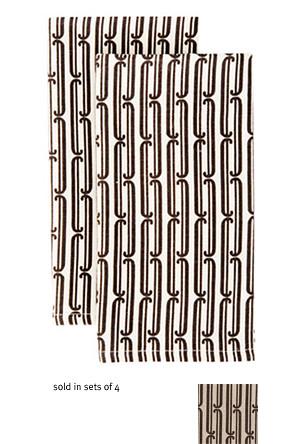 Bodoni napkin Dwell