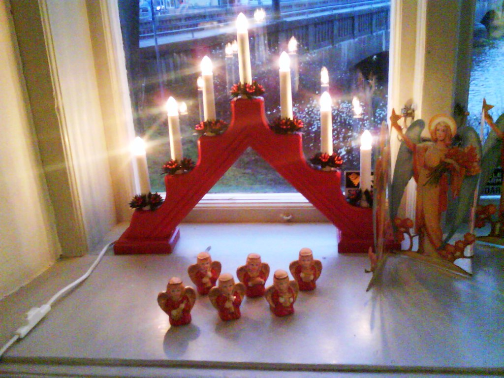 Traditional light decoration in Sweden