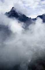 The mountains above Machu Picchu