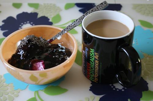 yogurt, coffee