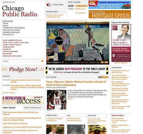 My photo featured at Chicago Public Radio