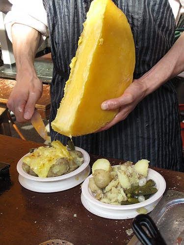 Raclette with potatoes at Borough Market