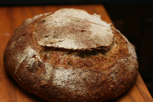 Strawberry Banana Macadamia Nut Sourdough
