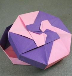 origami box alejandro delafuente tags pink paper origami purple box rosa caja gift papel [ 1024 x 821 Pixel ]
