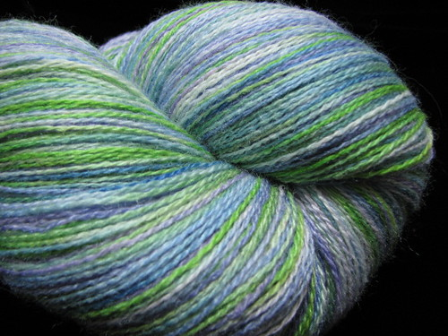 Water Lilies - Hand Dyed Zephyr Lace Yarn
