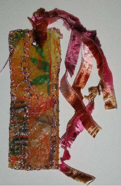 Fabric Paper Book Mark Back