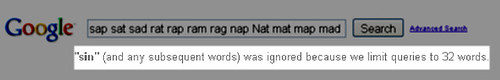 Word limit message