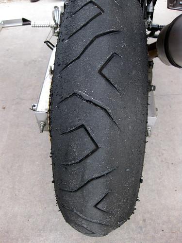 Rear tire = TOAST.