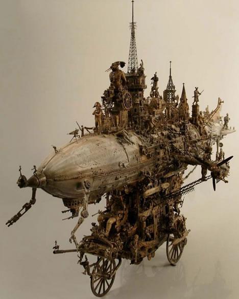 steampunk karya seni