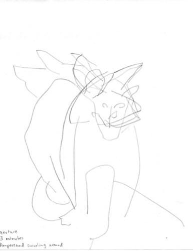 Gesture drawing: Ampersand fidgeting