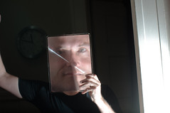 Using a magnifying sheet on myself