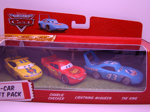 CARS Charlie Checker,lightning mcqueen,The King 3 pack