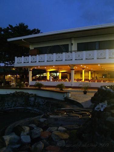 Paras Beach Resort dining area