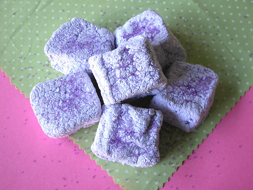 Purple sugar Halloween marshmallows