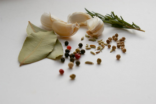 Garlic, herbs and spices