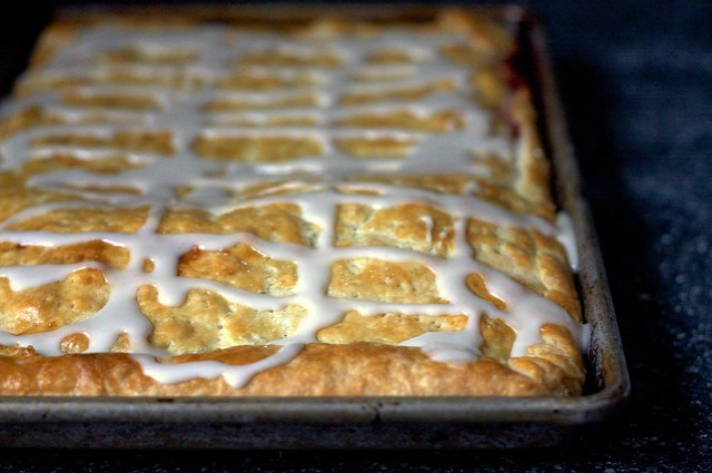 slab pie, glazed