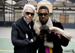 Kanye West & Karl Lagerfeld