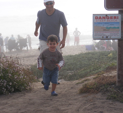 Running on the beach with Amir