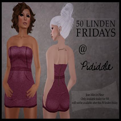 50L Friday.Pididdle Denim Mini Dress