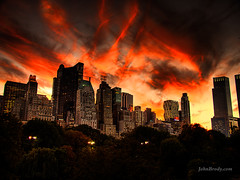 Sunset Over Central Park NYC