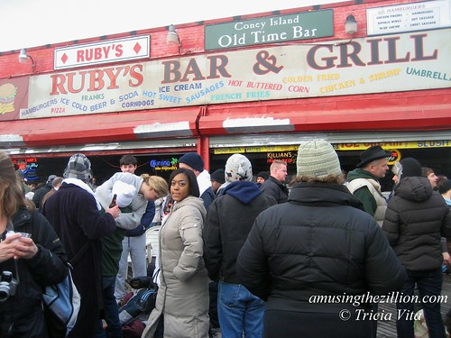 Outside Ruby's Bar on New Year's Day 2010 in Coney Island. Photo © Tricia Vita/me-myself-i via flickr