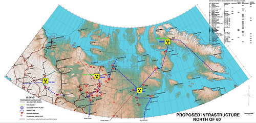 Proposed location of nuclear reactors in the Arctic