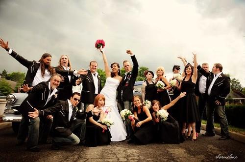Christine & Greg\'s Rock \'n Roll Wedding | Offbeat Bride