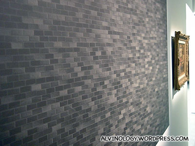 Photograph of a brick wall, made to look like a painting